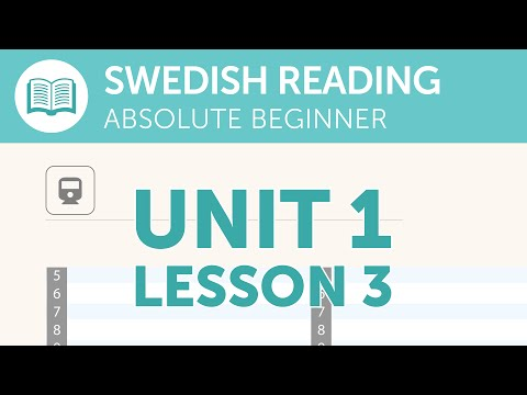 Swedish Reading Practice for Absolute Beginners - Reading the Train Schedule