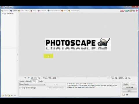 Photoscape: A Faster Way To Make Reflective Text or Mirrored Text