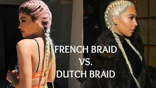How To Dutch And French Braid Your Own Hair Like Kylie Jenner Kim Kar