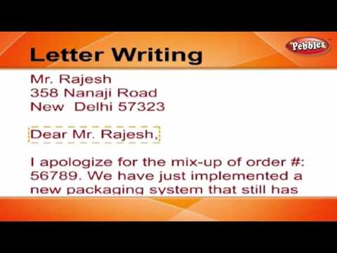 How to write a Letter | Letter Writing in English | Writing Letters For Kids