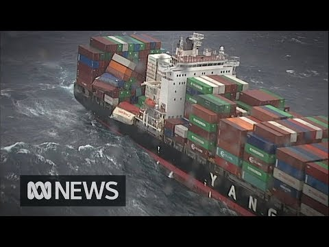 83 shipping containers fall from cargo ship off Australia's east coast