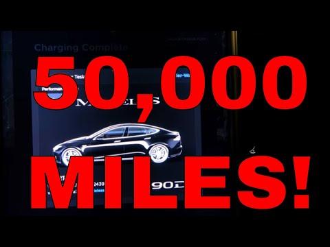 Tesla Model S 90D: Rated Range Degradation 50000 Miles 100 Weeks Ownership W/Chart