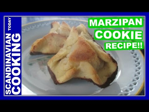 Napoleonshatte (Marcipanhatte) - Napoleons Hat - A Danish Cookie Recipe