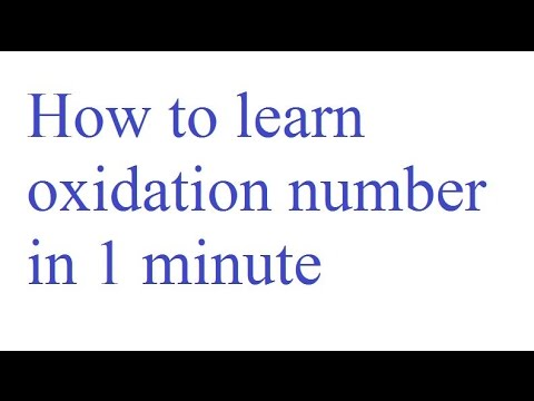 How to learn oxidation number in 1 minute