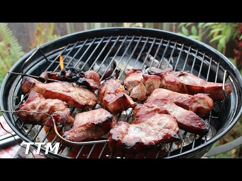BBQ Pork Shoulder Country Style Ribs on the Weber Jumbo Joe