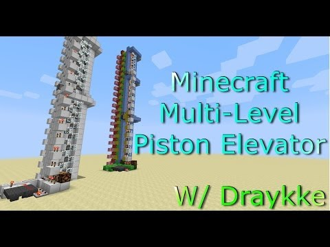 Minecraft (1.8+) Multi-Level Piston Elevator Tutorial [Fast/Compact/Infinitely Expandable]