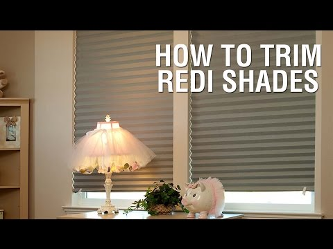 How to Trim Your Redi Shades