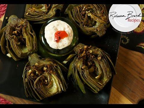 Pan Roasted Artichokes EASY Recipe