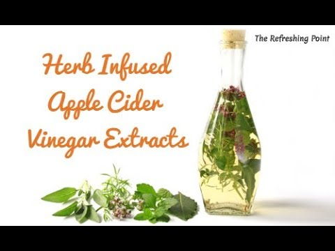 Apple Cider Vinegar Infused with Medicinal Herbs - Simple Extracts-Alcohol Free & Great for Children