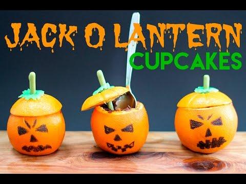 HALLOWEEN Pumpkin Cupcakes! Jack O Lantern Mini Cakes in ORANGES!