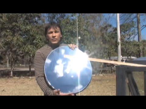 Make a PARABOLIC Mirror  the cheap way PARABOLOID DIY REFLECTOR DIRECT TV hack Solar Reflective Film