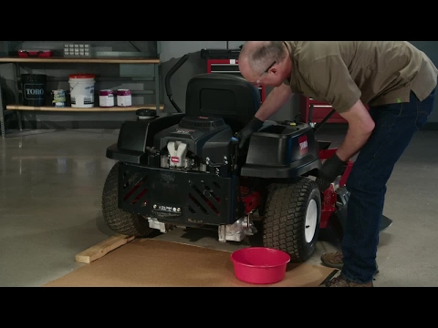 How to Change the Oil on a Toro® Zero Turn Mower