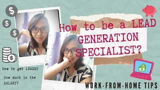 Work from Home as a Lead Generation Specialist / HOMEBASED JOB PH