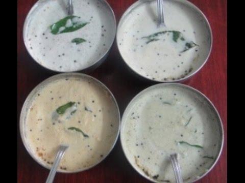 Coconut Chutney In Tamil | Thenkkai Chutney In Tamil | Types Coconut Chutneys | Gowri Samayalarai