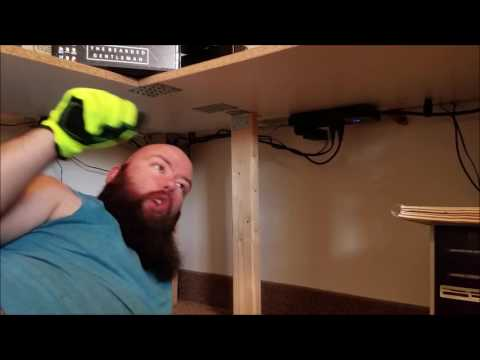 How to build a corner desk for under $100!! Part 2/2