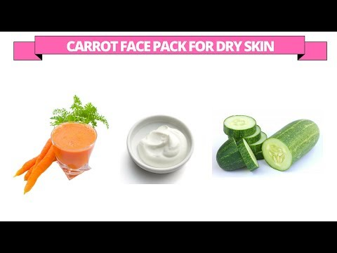 Homemade carrot face packs and face masks for dry skin - carrot, curd, cucumber face pack at home.