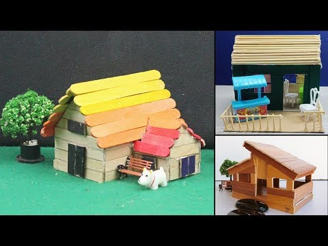 5 Easy Handmade Popsicle Stick House & Dollhouse #25 | DIY Crafts Ideas