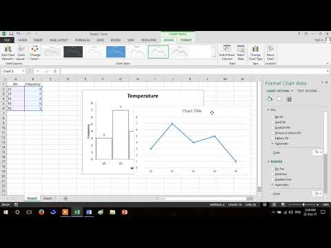 Frequency Polygon making using MS Excel (5.2)