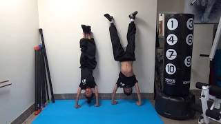 Kung Fu Kids - Wall Handstand Hold Challenge