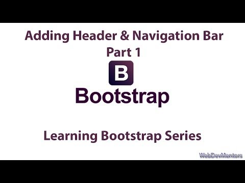 Adding Header & Navigation Bar with Bootstrap Part 1