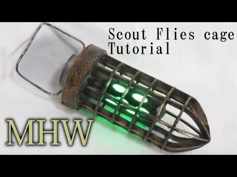 Monster Hunter World - Scout Flies cage Tutorial [How to make props]