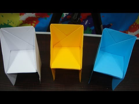 Paper chair origami