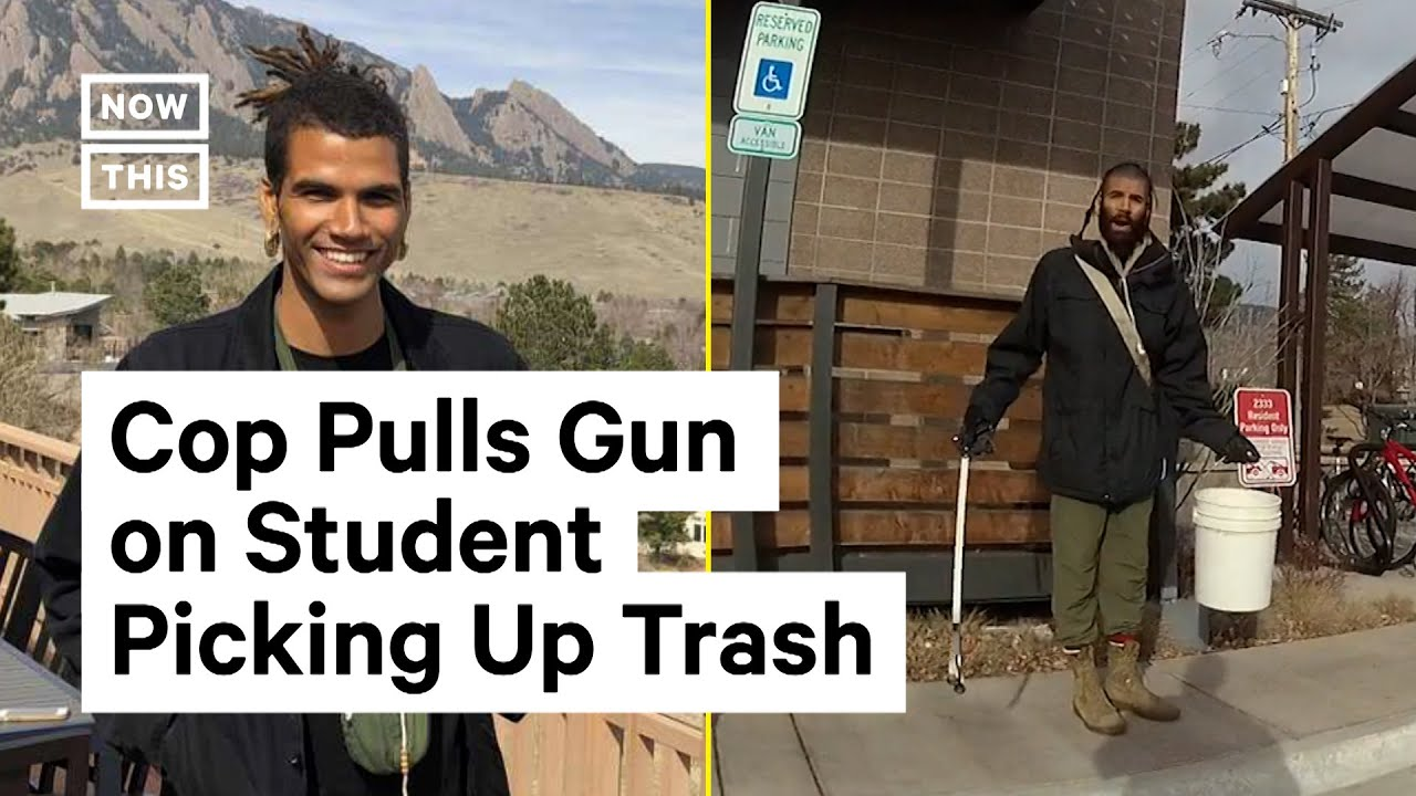 Officer Pulls Gun on Student Picking Up Trash Outside of Dorm Building   NowThis