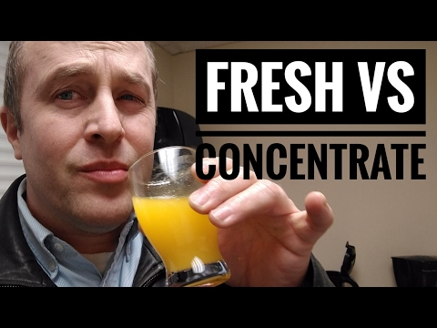 Fresh Squeezed vs Concentrate Orange Juice - Convenience, Taste, Cost