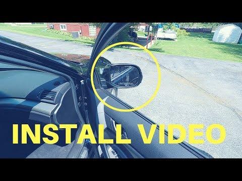 Acura TSX Mirror Glass Install