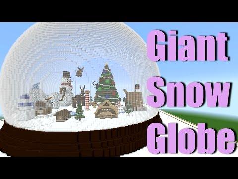 GIANT Minecraft Snow Globe Winter Wonderland! Speed Build minecraft Christmas building challenge