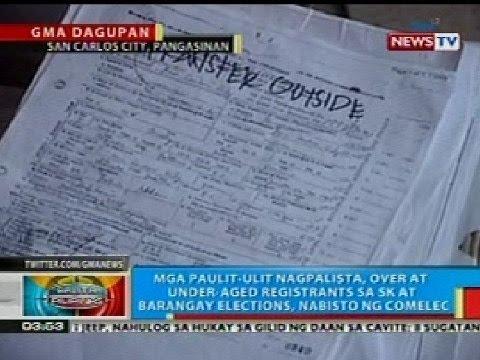 BP: Umano'y flying voters para sa 2013 barangay and SK elections, nabisto ng COMELEC