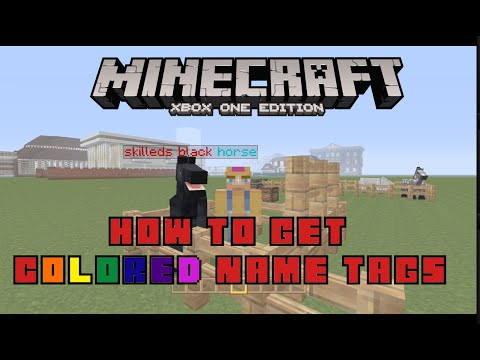 Minecraft Xbox One- How to Make Colored Name Tags And How to Name Chest (TU19/CU7)