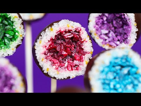 GEODE CANDY CAKE POPS - NERDY NUMMIES