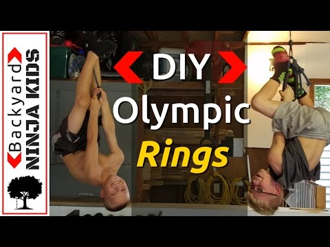 Build cheap and easy gymnastic rings - Ninja Warrior obstacles DIY
