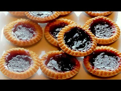 Christmas Jam Tarts How to make recipe - Strawberry tart Simple snack food