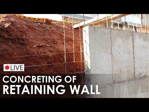 Concrete Retaining Wall I Rebar I Formwork I Concretting I How to Build on site I live Application
