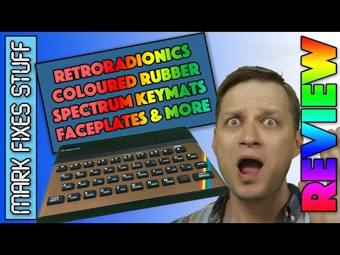 NEW Replacement ZX Spectrum Coloured Rubber Key mats, Faceplates and Membranes