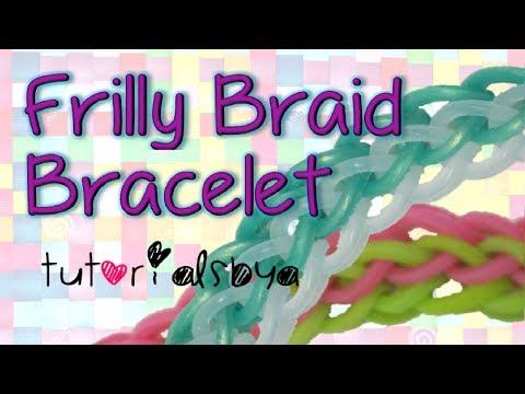 NEW {2 Row} Frilly Braid Rainbow Loom Bracelet Tutorial