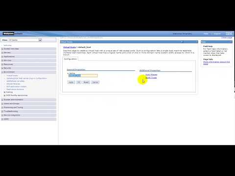 how to check virtual host in websphere