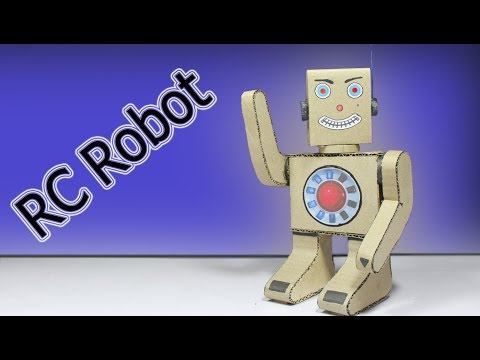 Wow! How To Make RC Robot From Cardboard ! Easy Science Projects