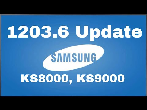 1203.6 Firmware Update Samsung KS8000 TV, How To