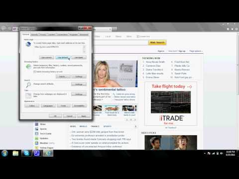 How To Change Your Internet Explorer 9 Homepage