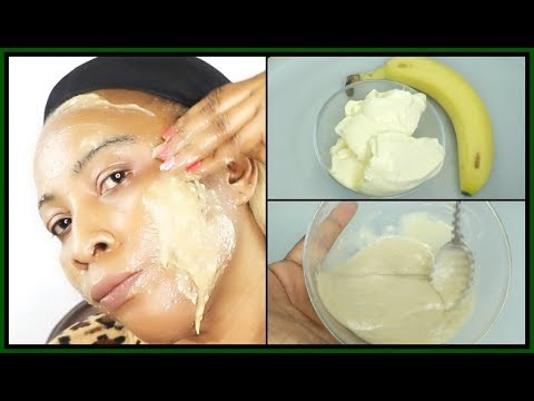 BANANA AND BUTTER  FACE MASK FOR CLEAR GLOWING  SPOTLESS SKIN |Khichi Beauty