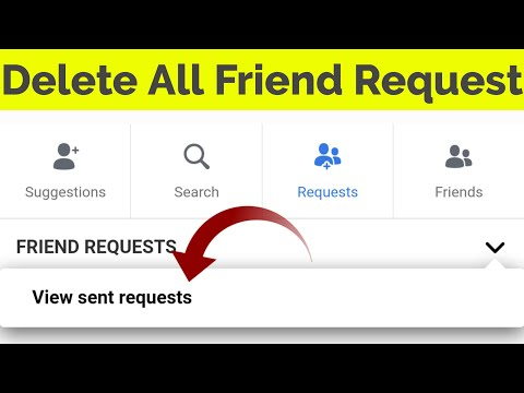 How To Delete/Cancel Sent Friend Request On Facebook-See All Your Requests In Mobile-2019