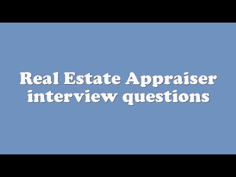 Real Estate Appraiser interview questions