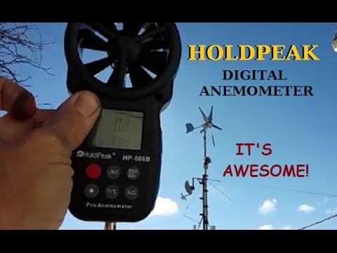 HOLD PEAK HP-866 B Digital Anemometer wind speed meter