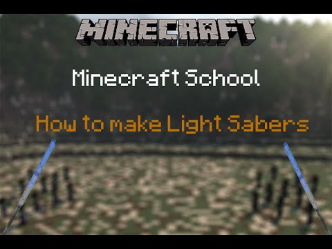 How to create lightsabers in minecraft