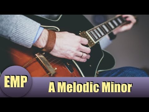 A Melodic Minor Backing Track with Chords Sheet (Guitar JamTracks) @EffectiveMusicPractice