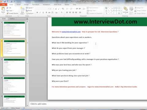 job interview what were your responsibilities in your previous organization