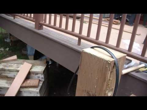 Deck lighting and stair railings